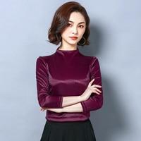 KBT02285 Woman fashion 2019 ruffle blouse silk blouse women top