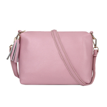 Women Solid Fashion Shoulder bag 2019 Spring New Ladies Messenger Bags Hot Sale Casual Small Bags Sweet Tassel Crossbody Bag
