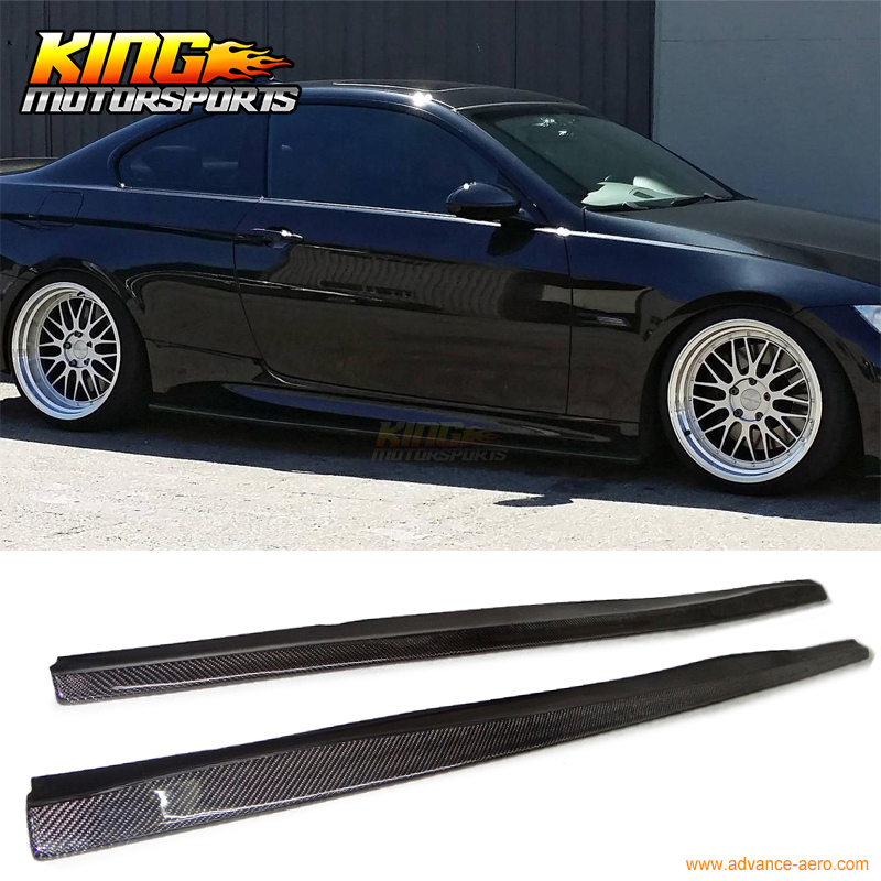 Fit For 2007 2010 BMW E92 2Dr M Tech M Sport Only DP Style Side Skirts