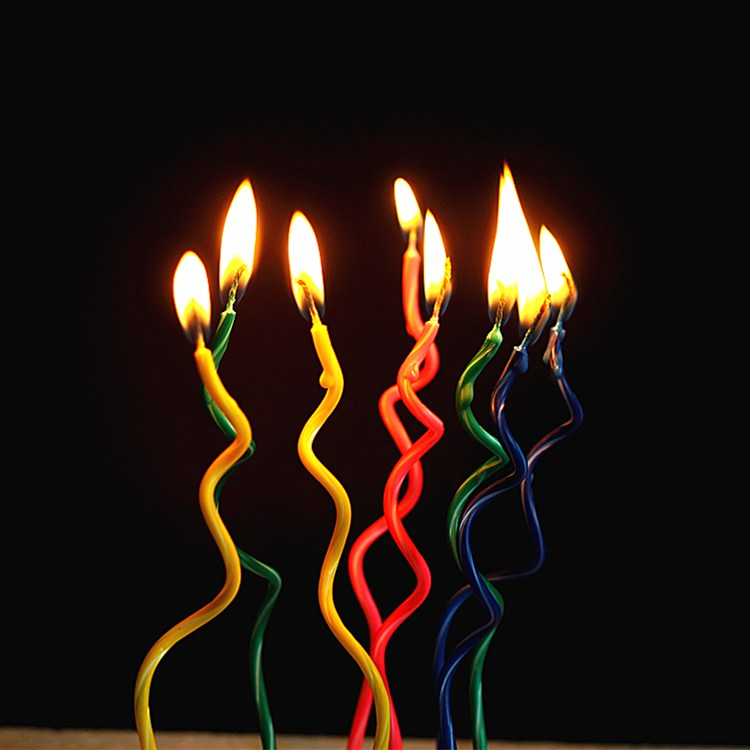New Creative Scented Birthday Weddings Candles Colorful Bend Flameless Candles Cake For Children Gifts Birthday Decoration