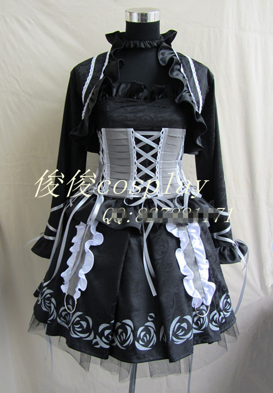 Anime Vampire Knight Kuran Yuki gorgeous Rose Gothic Party Lolita Dress Skirt Cosplay Costume Any Size Free Shipping