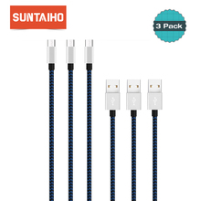 3pack Suntaiho USB to Type C 3.1 Cable for Xiaomi Mi5 Mi6 1m/2m USB Type C Cable USB-C Fast Charging Data Cable for Xiaomi mi9