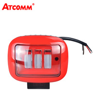 ATcomm LED Car Work Light Lamp 12V 30W 6000K Super White Auto Accessories LED DRL Driving ATV Light Tripls Beams For SUV Offroad