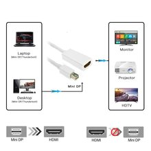Mini Displayport Vers HDMI Câble Thunderbolt 2 HDMI convertisseur pour macbook Air 13 iMac Chromebook Mini DP à adaptateur HDMI(China)