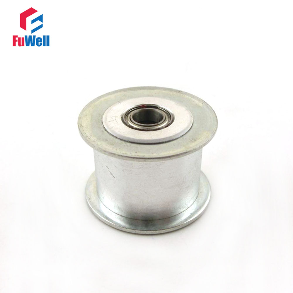 2pcs HTD5M 15T Timing Idler Pulley without Teeth 3/4/5/6/7/8/9mm Bore Idle Pulley 16/21mm Belt Width Bearing Synchronous Wheel