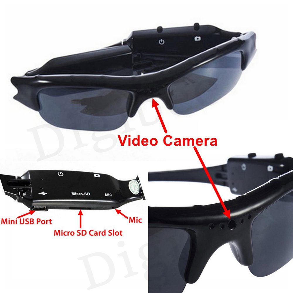 b2ac72ac53984 New Coolest HD 720P Eyewear Digital Camera Audio Video Recorder Video  Glasses Mini Camcorders DV DVR Sunglasses With Camera-in Mini Camcorders  from Consumer ...