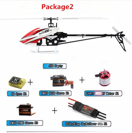 Upgraded Version ALZRC -450 Helicopter Devil 450 Pro FBL PNP - Black 50A ECS