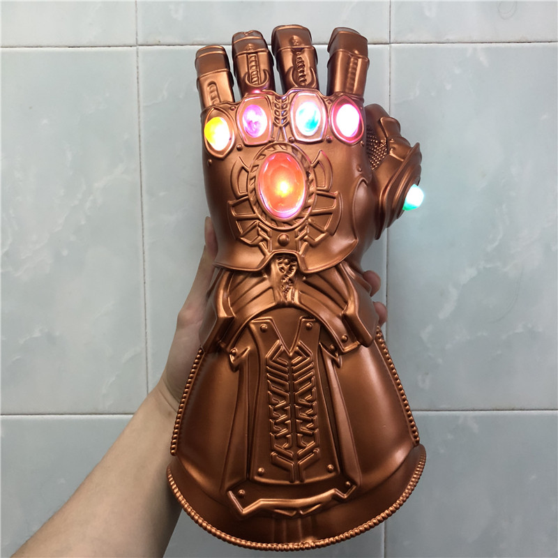 1:1 LED Light Thanos Infinity Gauntlet Avengers Infinity War Cosplay LED Gloves Gift Costume Halloween Props(China)
