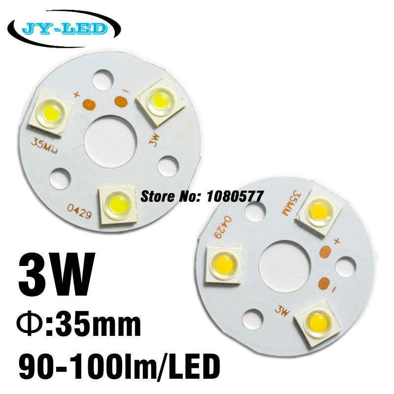 3W 35mm Round Aluminum PCB Board With SMD 7171 HuaLei LED 300lm Excellent Quality