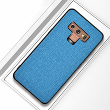 цена на Phone case For Samsung Galaxy Note 9 case back cover note9 fabric shockproof Protective case capas coque for samsung note 9 case