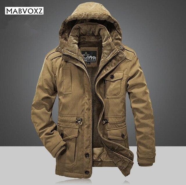 a761705ec3d19 -30 grados invierno abrigo hombres Chaquetas Nuevo 2018 más tamaño 4xl  marca afsjeep caliente gruesa