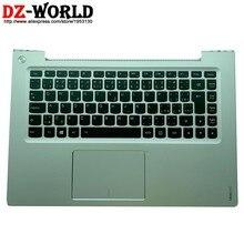 Palmrest prata superior caso czech cz retroiluminado teclado touchpad para lenovo ideapad u430 u430t u430p c capa 90203141 25211637
