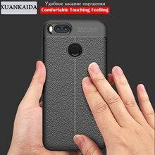 XUANKAIDA Luxury Litchi Leather skin TPU Soft Rubber Phone Case cover For Xiaomi 5X 6 Max2 Redmi Note5A Note4 Note4X 4A 3S 3pro