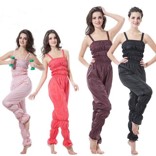 99b2e43504 Mujeres aerobic ropa pérdida de peso traje adelgazamiento Fitness pantalones  Sauna traje mujer Sauna pantalones Sportwear