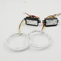 Car Styling 2.5 inch rotating led day running angel eyes white red blue for car headlight retrofit free shipping