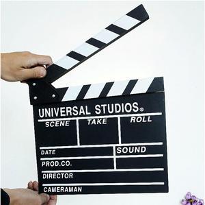 Woodon Movie Clapperboard Director Video Scene TV Movie Clapper Board Film Slate Cut Prop 20x20x1.5cm hot new