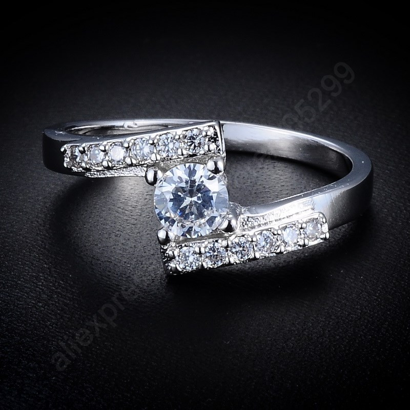 JEXXI Luxury Pure 925 Sterling Silver Jewelry Cubic Zirconia Ring Wedding Engagement Rings Set Jewellery Supplier