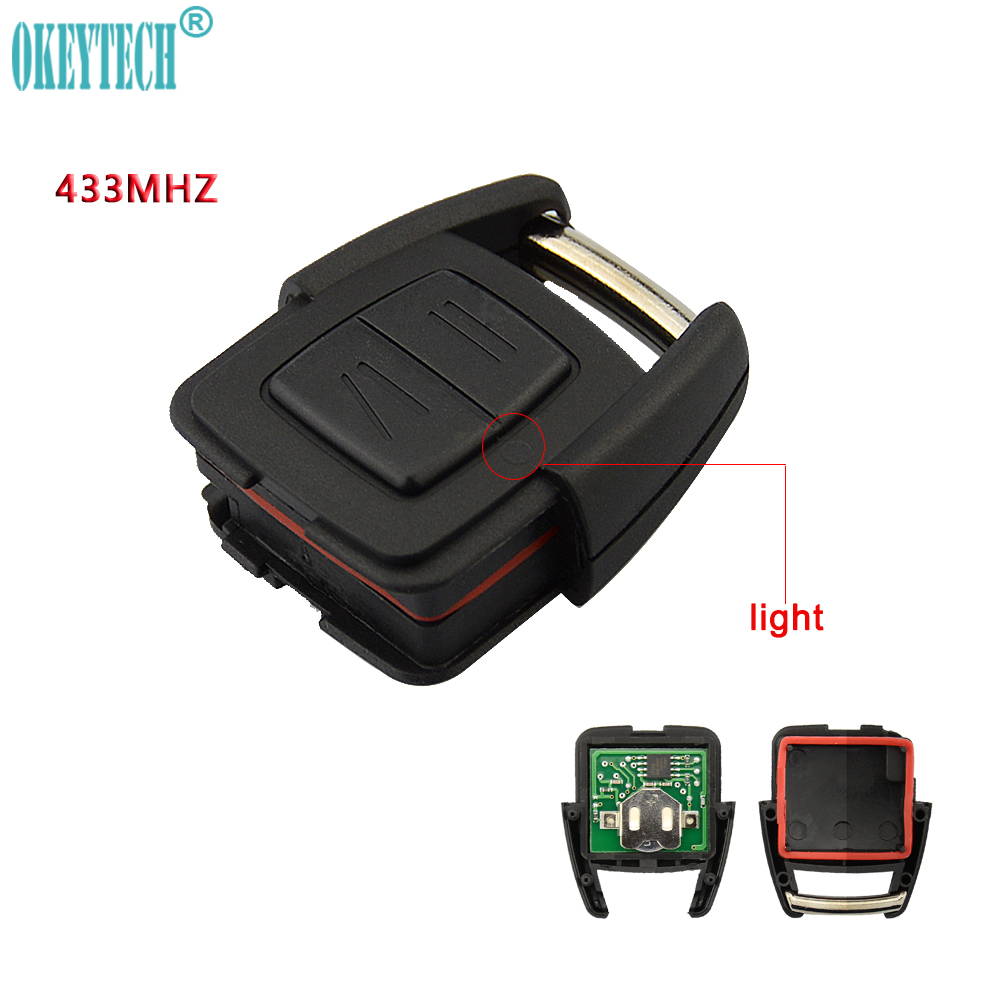 OkeyTech 2 Buttons <font><b>Remote</b></font> Car <font><b>Key</b></font> FOB 433MHz For Vauxhall <font><b>Opel</b></font> <font><b>Astra</b></font> h j <font><b>g</b></font> insignia vectra c Vectra Zafira OP1 Auto Omega 2 3 image