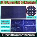 P6 SMD 3in1 Крытый полноцветный Светодиодный Дисплей Модули/64x32 пикселей/1/16 сканирования/p6 RGB led дисплей модуль видео панель