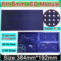 SMD 3in1 P6 Indoor full color Led Display Modules / 64x32pixel / 1/16 scanning / p6 RGB led display module video panel