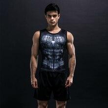 2018 Men Boy Compression Sleeveless Summer Vest 3d Printer Bodybuilding Mens Fitness Tights High Flexibility Shirt Muscle Vest