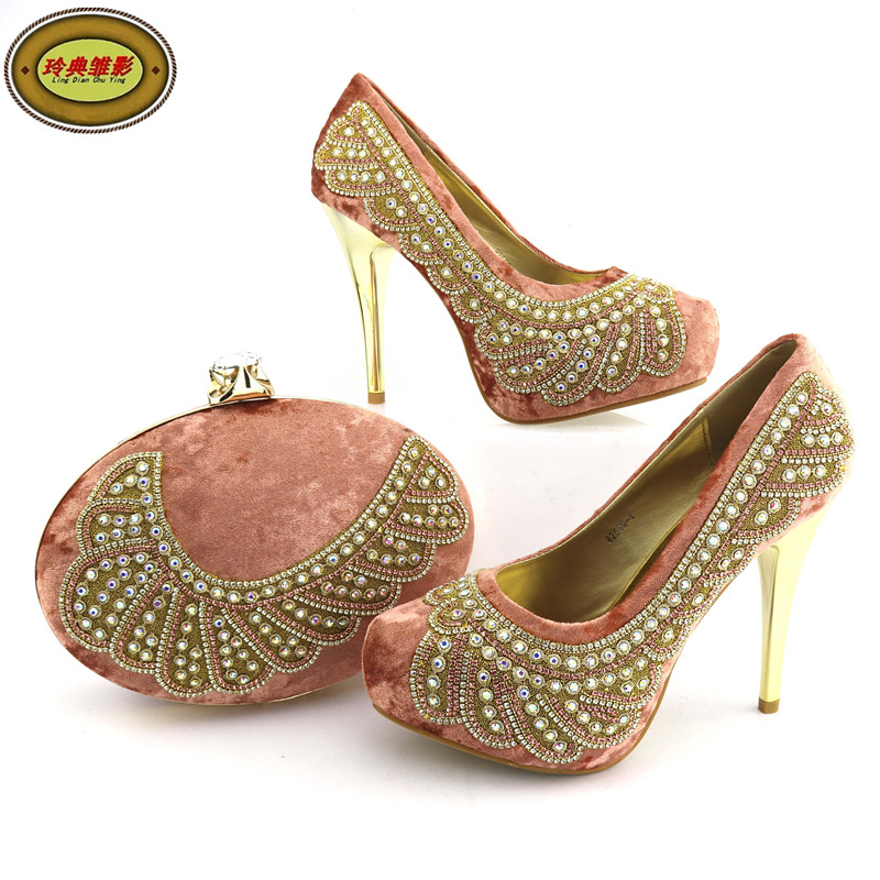 82569 High Quality Wedding Rhinestone Wedding High Heel Shoes And Bag Fashion Dress Shoes And Bags For Sale high tech and fashion electric product shell plastic mold
