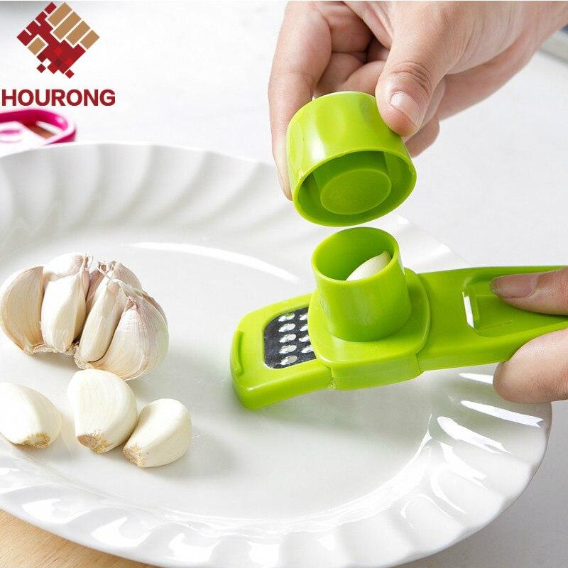 Hourong 1Pc Garlic Presses Kitchen Gadgets Chopper Cutter