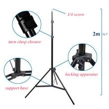 ภาพ 2 M 79 นิ้วขาตั้งกล้องขาตั้ง 1/4 หัวสกรูสำหรับสตูดิโอถ่ายภาพ Softbox วิดีโอแฟลชร่มสะท้อนแสงแสง