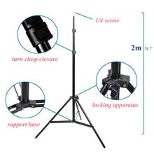 תמונה 2 M 79 סנטימטרים אור Stand חצובה עם 1/4 בורג ראש עבור תמונה סטודיו Softbox וידאו פלאש מטריות רפלקטור תאורה