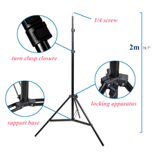 Foto 2 M 79 Inch Light Stand Statief Met 1/4 Schroef Head Voor Photo Studio Softbox Video Flash Paraplu Reflector verlichting