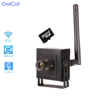 OwlCat Video Surveillance Security IP Camera HD 1080p With Memory SD Slot Sound Audio Pickup Microphone