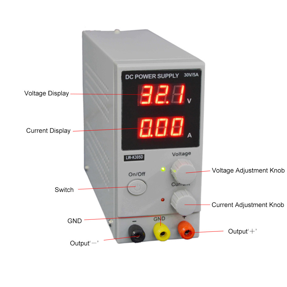 LW K305D DC Power Supply adjustable Regulated power supply 30V 5A maintenance Charging Laboratory Power Supply Voltage Regulator
