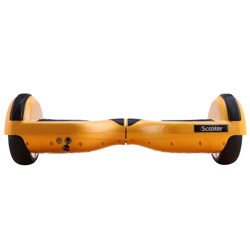 IScooter Gold 6 5 Inch 2 Wheels Smart Electric Hoverboards With Bluetooth Speaker LED Light Carrying
