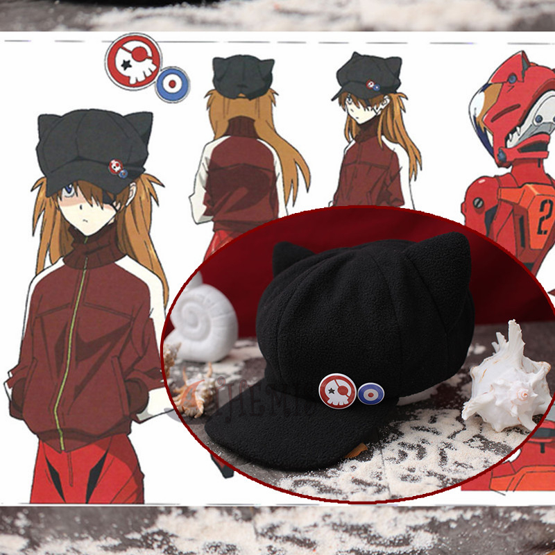Athemis EVA hat for SOURYU ASUKA LANGLEY cat kitten style Fleece Washable material cosplay accessories