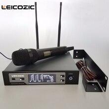 Leicozic SKM9100 цифровой беспроводной микрофон сценический 615-655 МГц Ручной беспроводной микрофон профессиональный microfono микрофон беспроводной