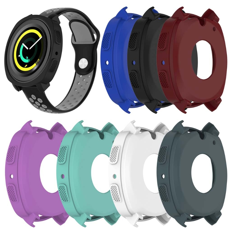 Watch Case Cover For Samsung Gear Sport R600 Smart Watch Silicone Protective Frame protective abs bumper frame for samsung i8750 transparent