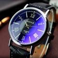 Hombres relojes YAZOLE Brand New 2016 fashion business casual PU de cuero del cuarzo de reloj parejas Deportes reloj de pulsera relogio masculino