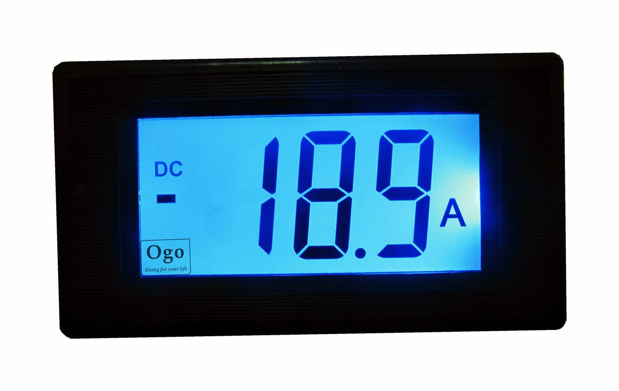 LCD Display OGO AMP Meter with Shunt 50A (OGO-AM50) - Blog Store