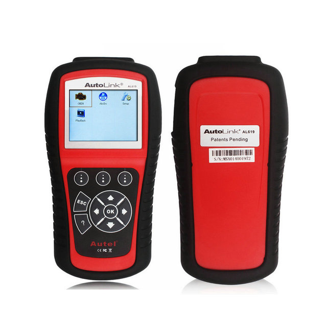 Air Bag Crash Data Reset Tool Autel AL619 Autolink Diagnostic Tool Scanner OBD2 Code Reader SRS CAN ABS Airbag Free Shipping