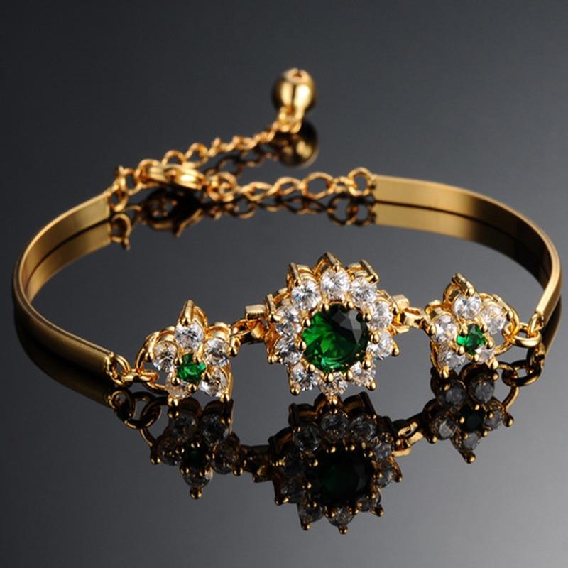 2019 Luxury 18K Gold Bracelets for Women Fashion Bracelet Accessories Crystal Charm Wedding Jewelry Birthday Gifts 2019 Luxury 18K Gold Bracelets for Women Fashion Bracelet Accessories Crystal Charm Wedding Jewelry Birthday Gifts