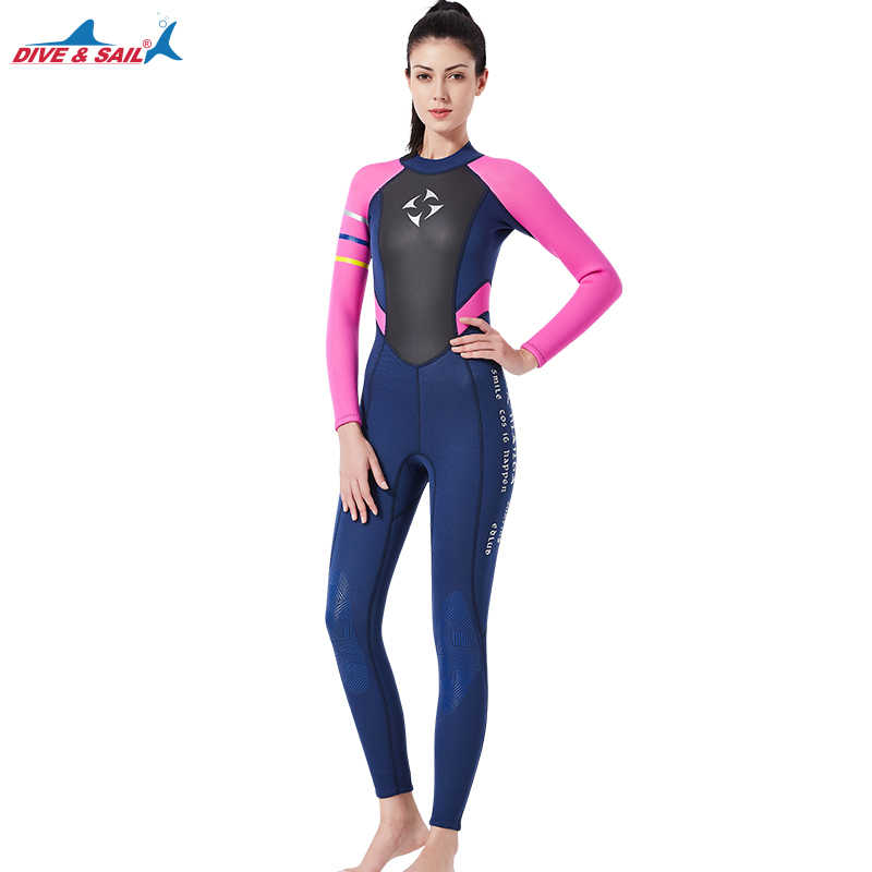 314e24ffa8d ... Women s Fullsleeve 3MM Neoprene Wetsuit Full Body Wetsuit Pink Black Scuba  Diving Thermal Full Suit