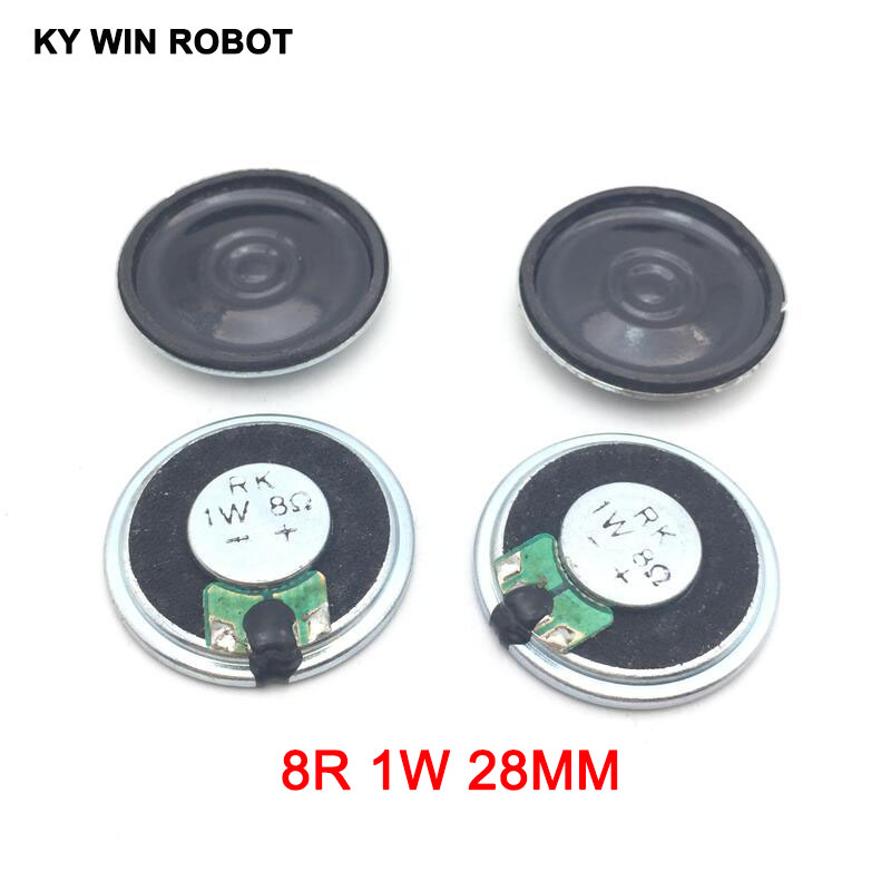 5pcs/lot New Ultra-thin Mini Speaker 8 Ohms 1 Watt 1W 8R Speaker Diameter 28MM 2.8CM Thickness 5MM