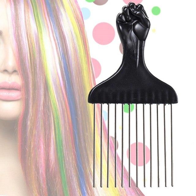 Black Plastic Metal Hair Dye Comb Anti static Coloring Brush With ...