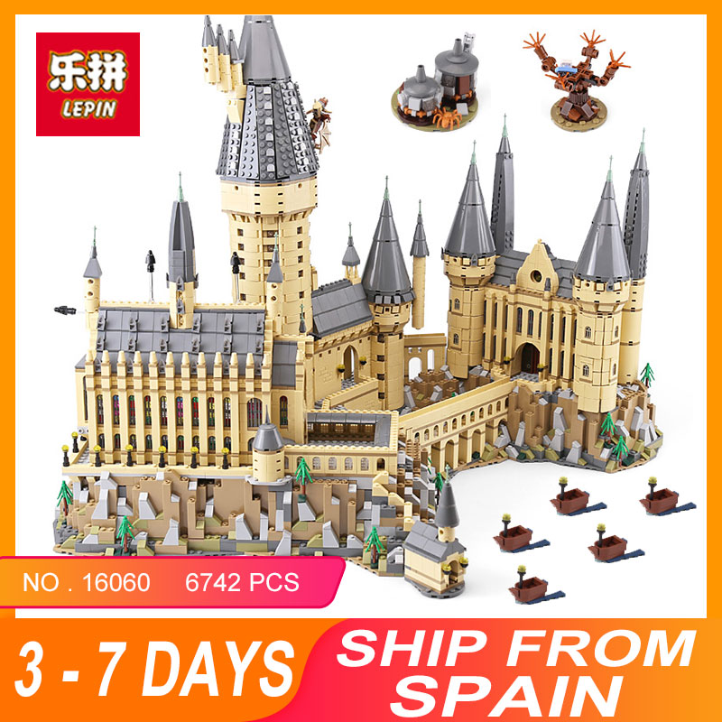 2018 Lepin 16060 Harry Magic Potter Hogwarts Castle Compatible Legoing 71043 Building Blocks Bricks Kids Educational