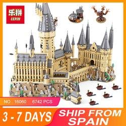 2018 Lepin 16060 Harry Magic Potter Hogwarts Castle Compatible Legoing 71043 Building Blocks Bricks Kids Educational Toys DIY
