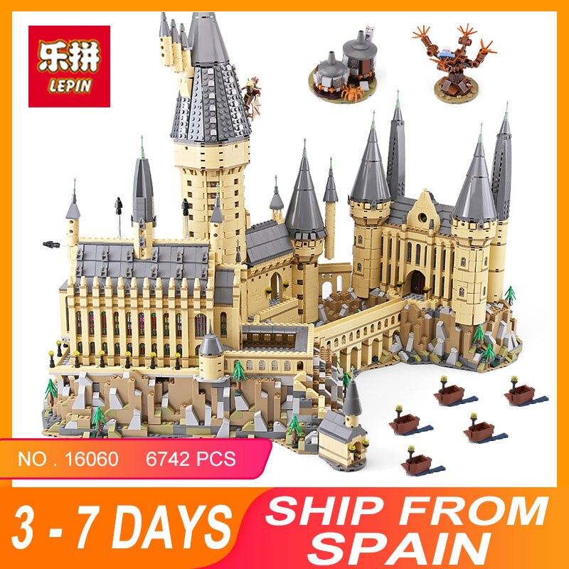 2018 Lepin 16060 Harry Magic Potter poudlard château Compatible Legoing 71043 blocs de construction briques enfants jouets éducatifs de travaux manuels