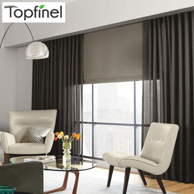 Top Finel lin lin rideaux Tulle Voile transparent fenêtre rideaux ...