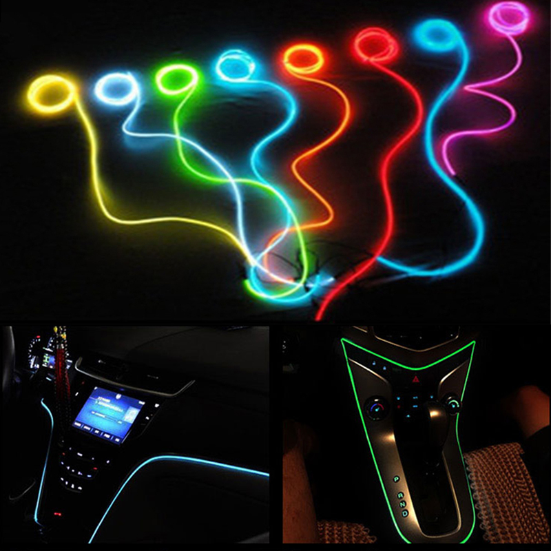 Car Styling Interior <font><b>LED</b></font> Cold light Decorative Atmosphere Light For <font><b>Renault</b></font> Trafic Safrane <font><b>Megane</b></font> <font><b>2</b></font> Duster Logan image