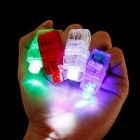 100 יח'\חבילה אצבע led אור 4 צבע אורות מנורת אצבע לייזר KTV מסיבת חתונת מתנות יום הולדת צעצועי חג מולד קישוט