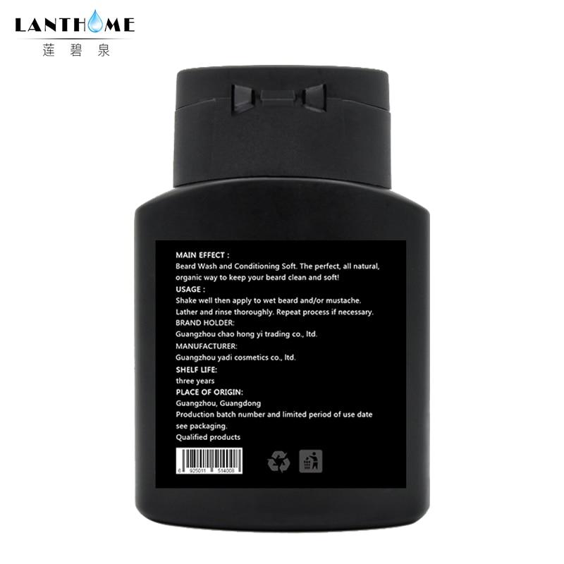 1PC Lanthome Vitamin Hair Beard Care Men's Gift Beard Cleaning Assistance Machine Moisturiser Deep Cleansing Beard Wash Shampoo 3